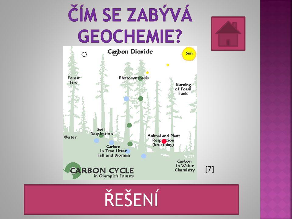 [7] Je to věda zabývající se rozmístěním a chováním chemických prvků v zemském tělese. ŘEŠENÍ