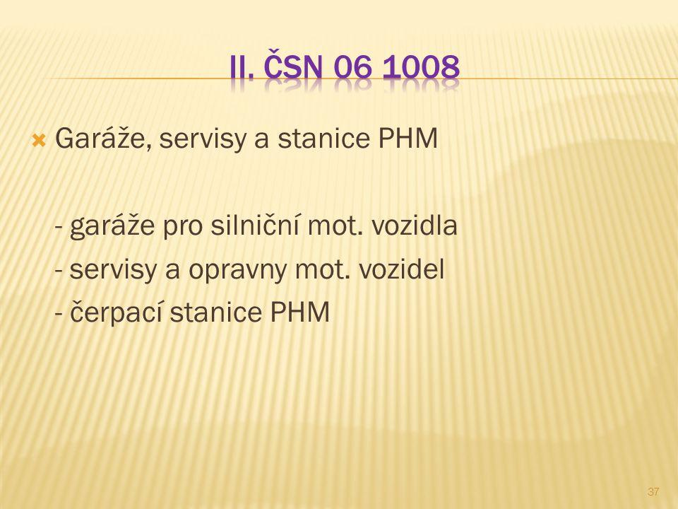  Garáže, servisy a stanice PHM - garáže pro silniční mot. vozidla - servisy a opravny mot. vozidel - čerpací stanice PHM 37
