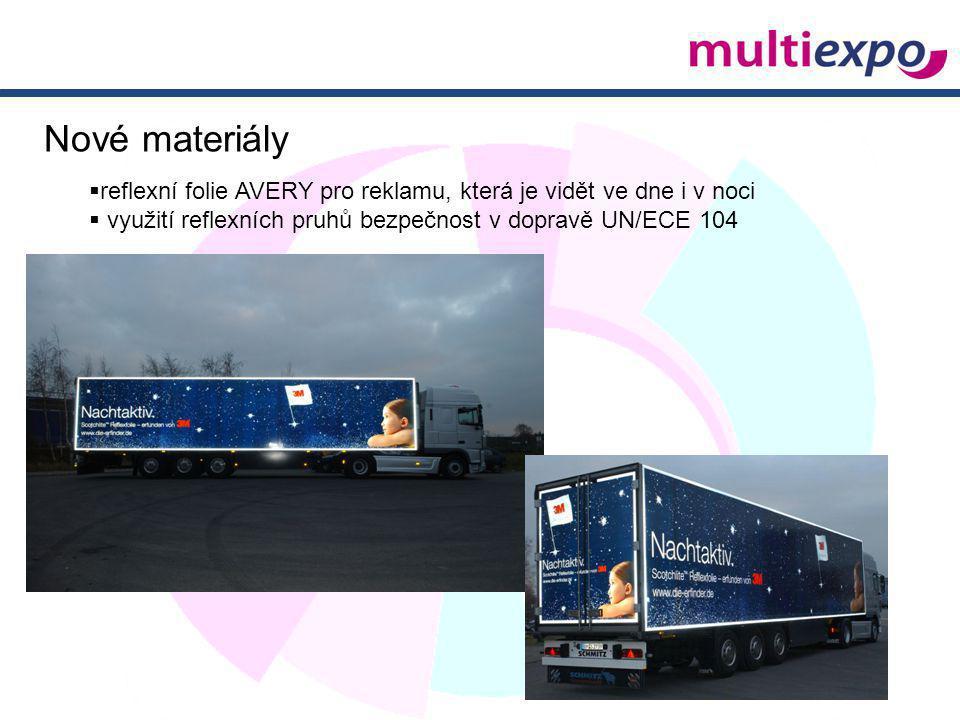  reflexní folie AVERY pro reklamu, která je vidět ve dne i v noci  využití reflexních pruhů bezpečnost v dopravě UN/ECE 104