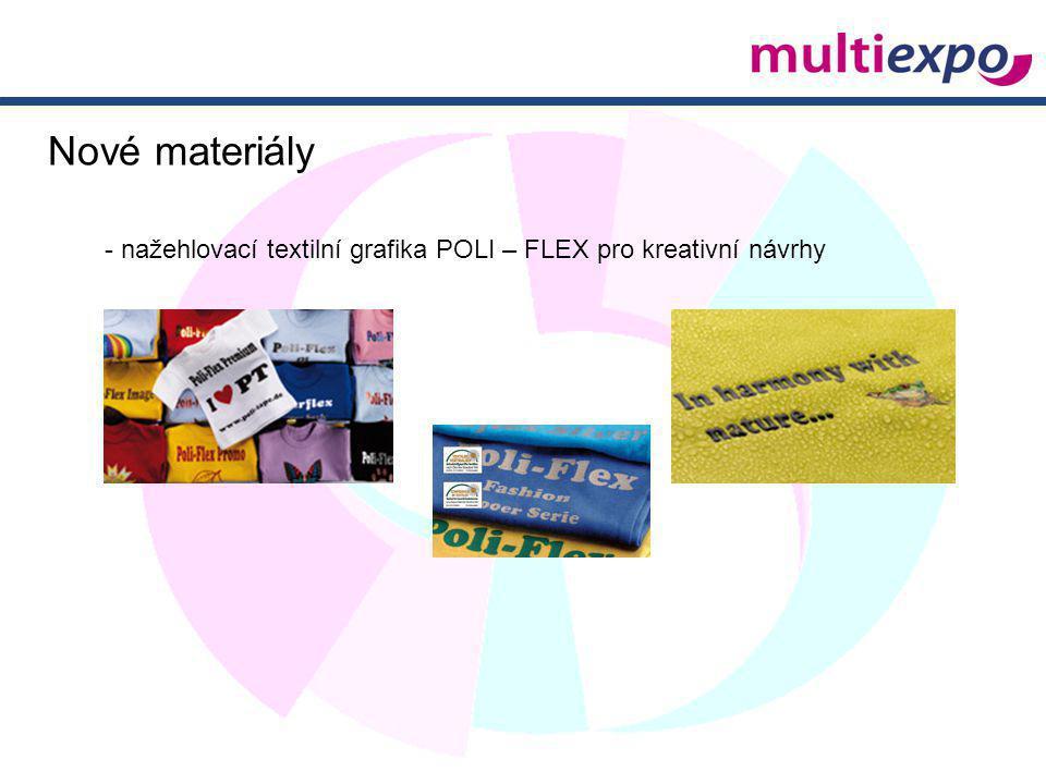 Nové materiály - nažehlovací textilní grafika POLI – FLEX pro kreativní návrhy