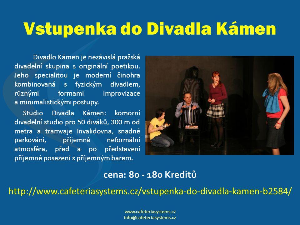 Vstupenka do Divadla Kámen Divadlo Kámen je nezávislá pražská divadelní skupina s originální poetikou.