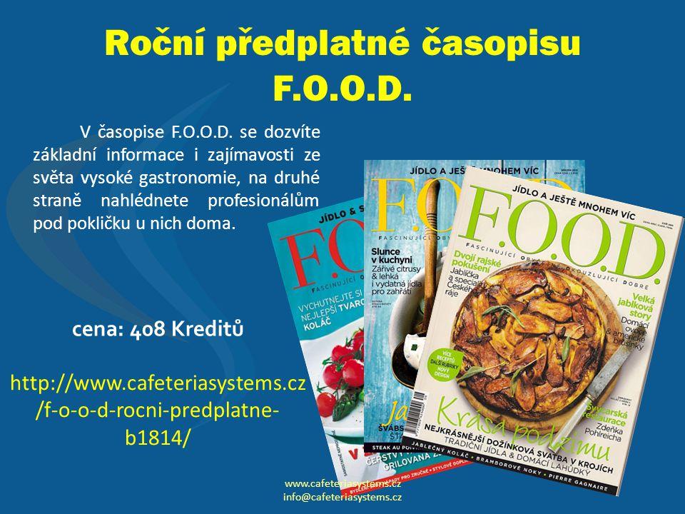 Roční předplatné časopisu F.O.O.D.V časopise F.O.O.D.