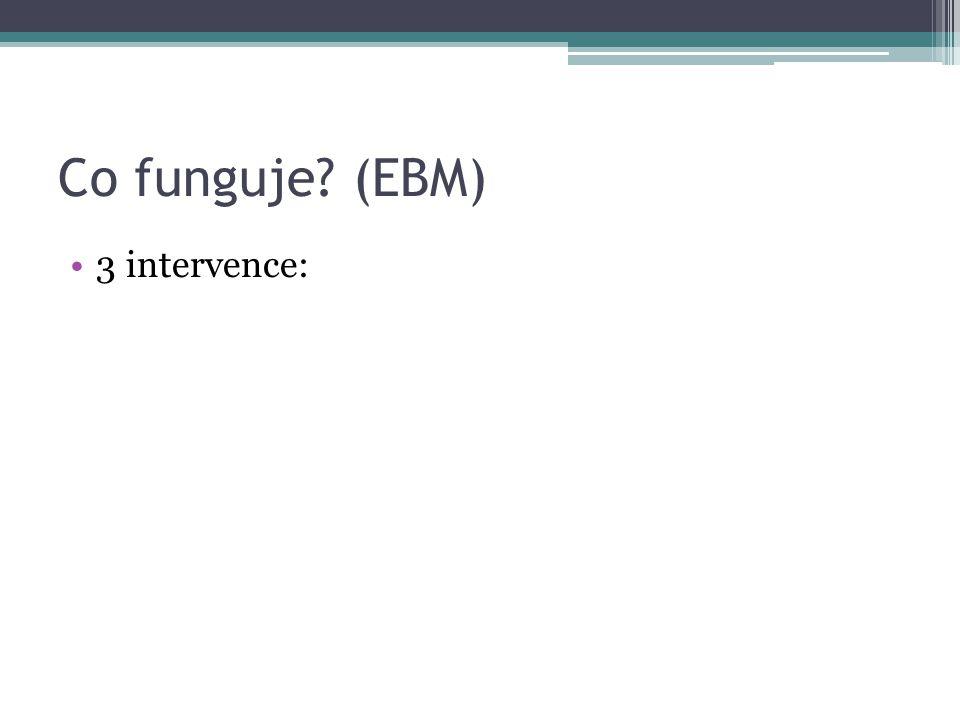 Co funguje? (EBM) •3 intervence: