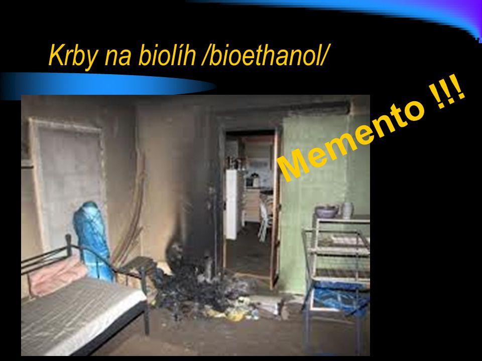 Krby na biolíh /bioethanol/ Memento !!!