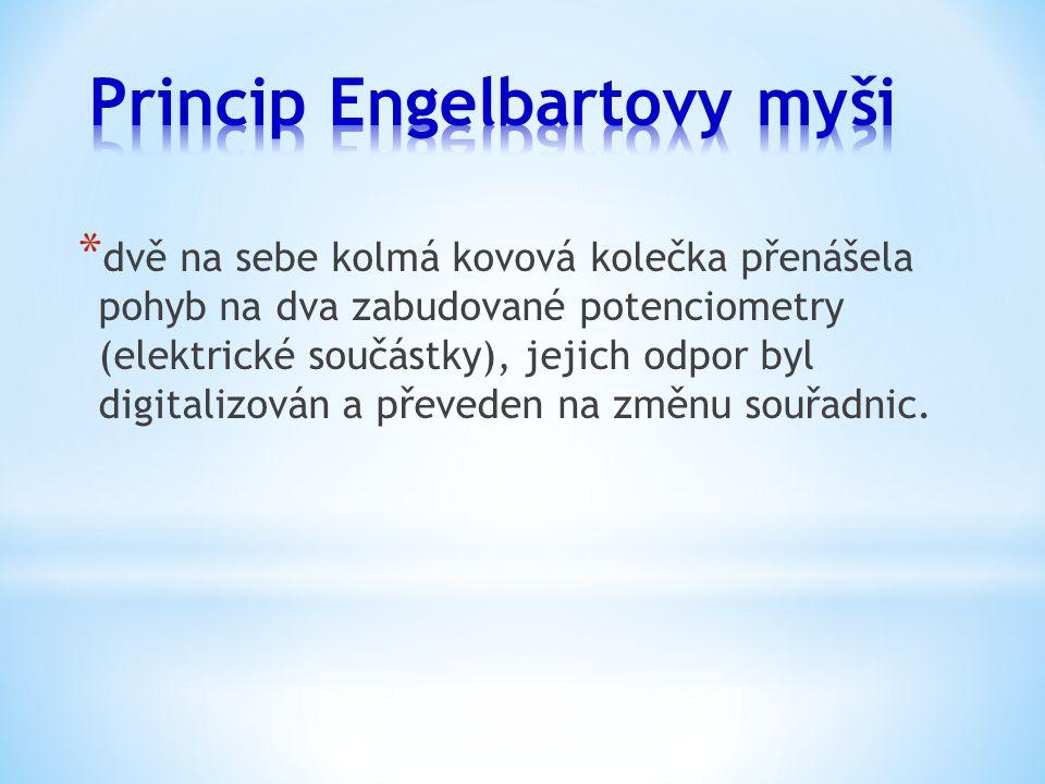 * 1970 - Douglas Engelbart získává patent na svou myš * počátek 70.