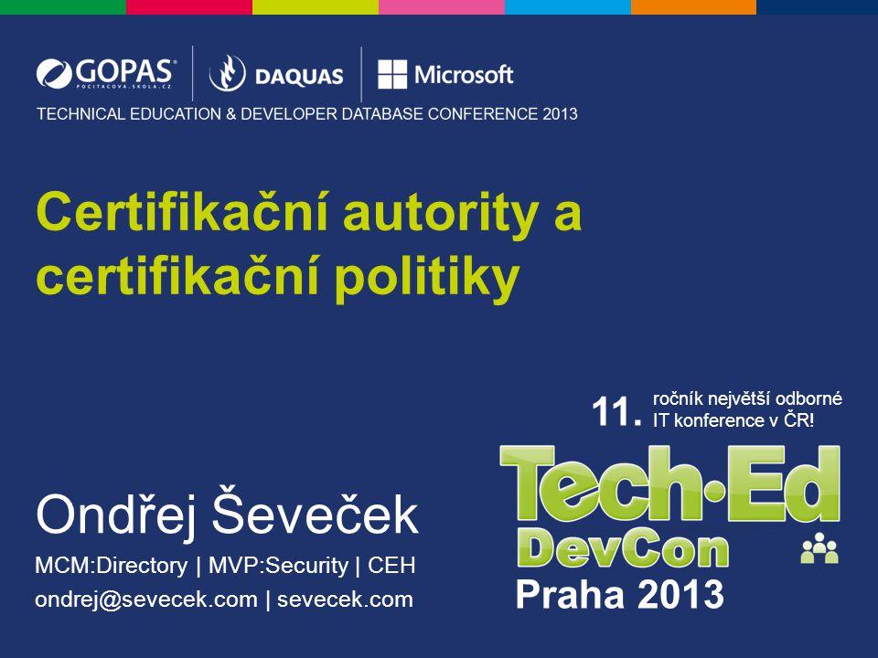 Praha 2013 11. ročník největší odborné IT konference v ČR.