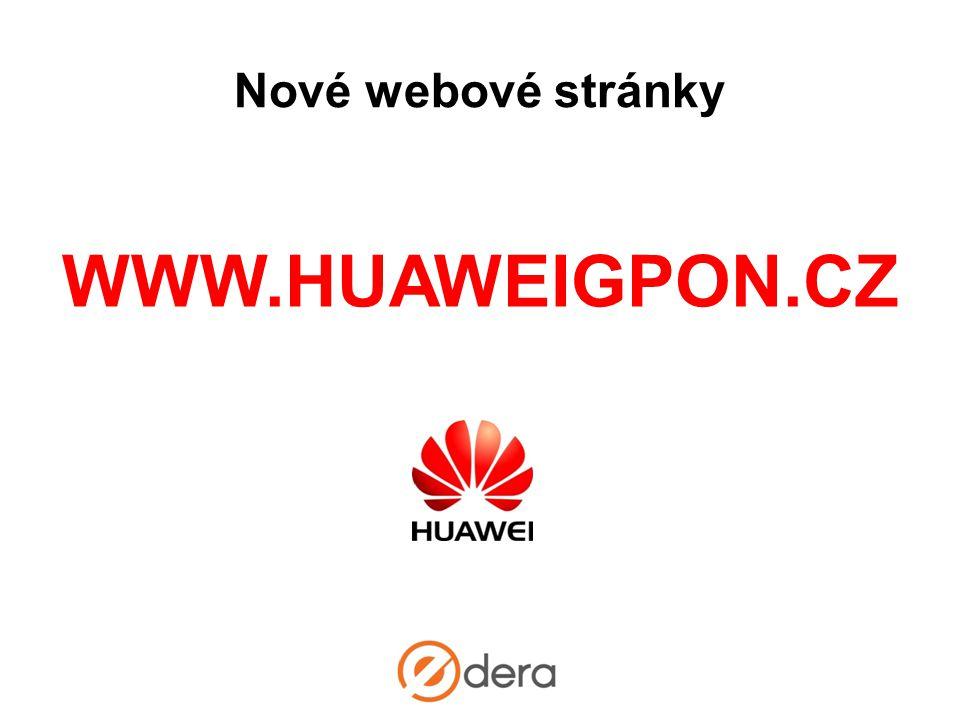 Nové webové stránky WWW.HUAWEIGPON.CZ