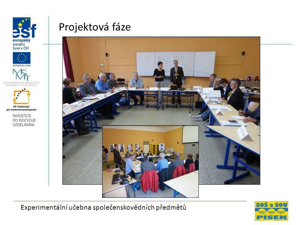 Experimentální učebna společenskovědních předmětů Projektová fáze