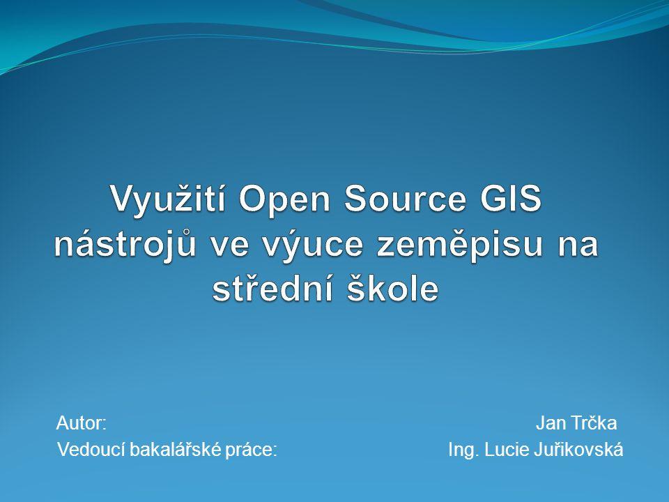 Open Source  volně dostupný software rovněž s přístupným zdrojovým kódem  zadané programy QGIS, uDIG, GRASS  Open Source Initiative  Open Source Definition
