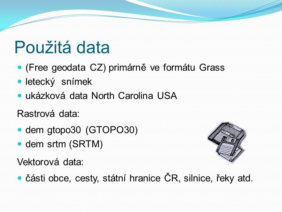 Zhodnocení a doporučení QGIS: nejvhodnější uDIG: méně vhodný GRASS: méně vhodný