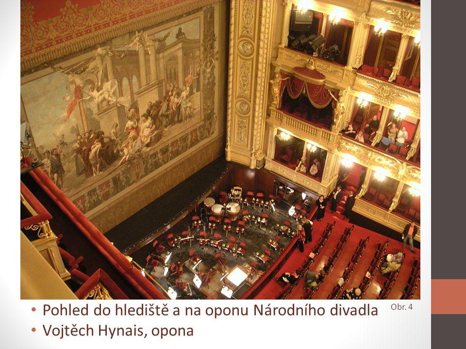 Opona Národního divadla • První oponu namaloval František Ženíšek • Ženíškova opona byla zničena požárem v r.