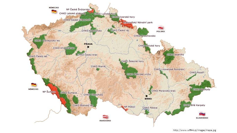 A) Národní parky  Rozsáhlá území, jedinečná v národním či mezinárodním měřítku, jejichž značnou část zaujímají přirozené nebo lidskou činností málo ovlivněné ekosystémy  v ČR se nachází čtyři národní parky:  Krkonošský národní park Krkonošský národní park  Národní park Šumava Národní park Šumava  Národní park Podyjí Národní park Podyjí  Národní park České Švýcarsko Národní park České Švýcarsko