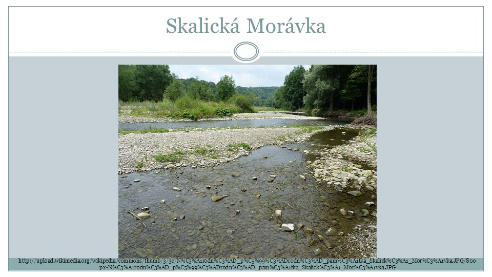 Skalická Morávka http://upload.wikimedia.org/wikipedia/commons/thumb/3/3c/N%C3%A1rodn%C3%AD_p%C5%99%C3%ADrodn%C3%AD_pam%C3%A1tka_Skalick%C3%A1_Mor%C3%A1vka.JPG/800 px-N%C3%A1rodn%C3%AD_p%C5%99%C3%ADrodn%C3%AD_pam%C3%A1tka_Skalick%C3%A1_Mor%C3%A1vka.JPG