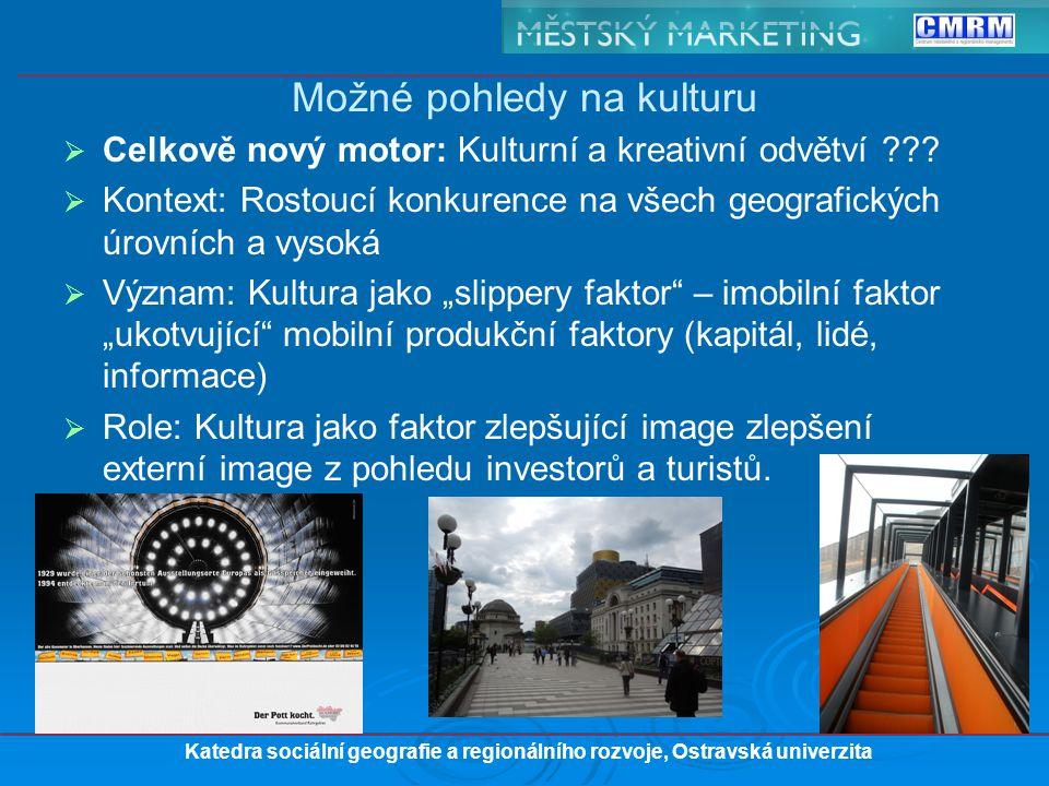   Celkově nový motor: Kulturní a kreativní odvětví ??.