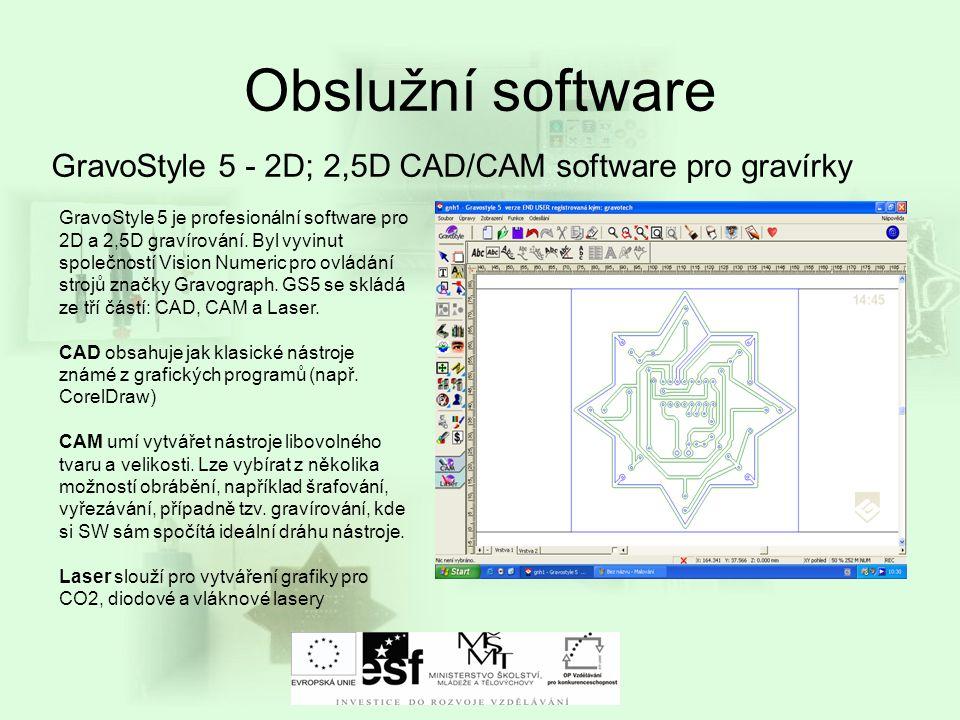 Obslužní software GravoStyle 5 - 2D; 2,5D CAD/CAM software pro gravírky GravoStyle 5 je profesionální software pro 2D a 2,5D gravírování. Byl vyvinut