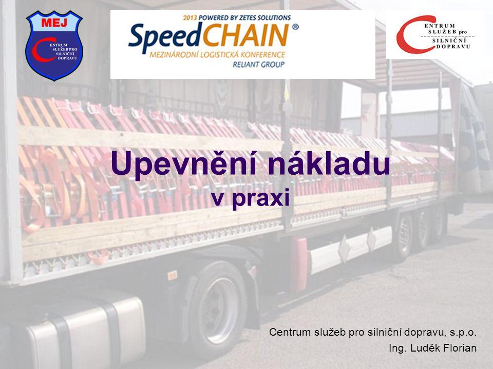 Upevnění nákladu v praxi Centrum služeb pro silniční dopravu, s.p.o. Ing. Luděk Florian