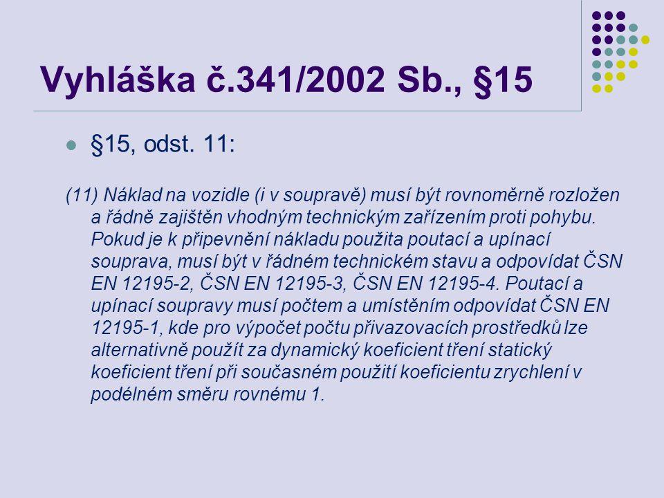 Vyhláška č.341/2002 Sb., §15  §15, odst.