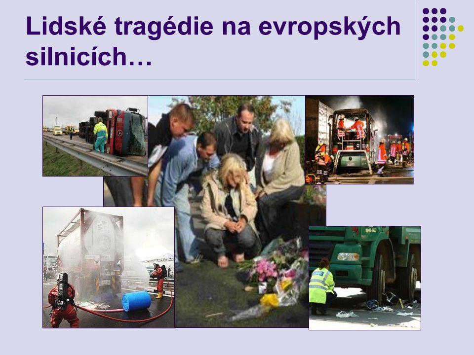 Statistiky dopravy 2009-2010  V roce 2010 zahynulo na silnicích Evropské Unie přes 30.900 osob  Hlášeno bylo přes 1,5 mil.