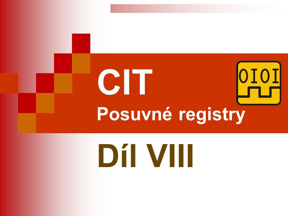 CIT Posuvné registry Díl VIII