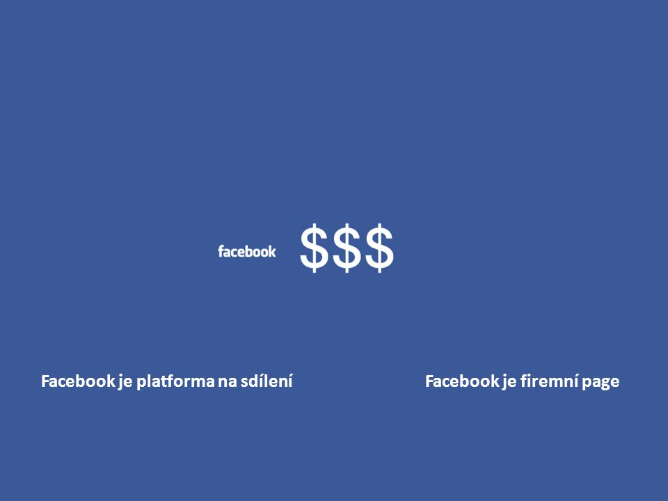 Facebook je platforma na sdílení