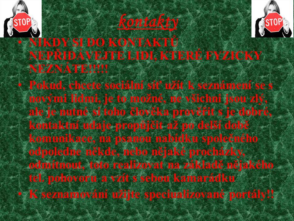 Skutečný příběh zranitelnosti dívek na sociálních sítích Odkaz: http://www.youtube.com/watch?v=c6VkPQEl74s&feature=fvwphttp://www.youtube.com/watch?v=c6VkPQEl74s&feature=fvwp