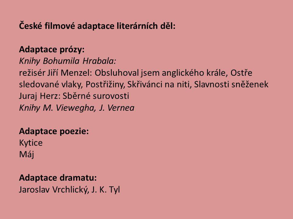 Zahraniční filmové adaptace: Adaptace prózy: A.Moravia-Horalka (rež.