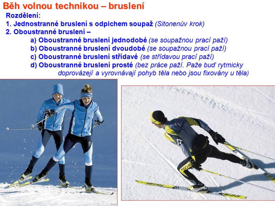 Materiálové vybavení pro běh na lyžích