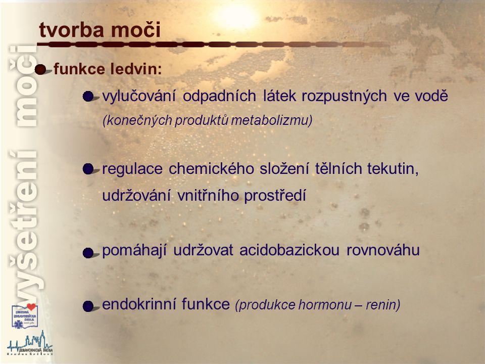 důkaz glukózy v moči Fehlingova zkouška: Fehlingovo činidlo (roztok modré skalice s hydroxidem sodným se Seignettovou solí – vínan draselno-sodný) se uplatňuje v oxidačně-redukční reakci v činidle se redukuje Cu a substrát se oxiduje Fehlingovo činidlo se přidá k moči, zahřívá se a kapalina se barví nejprve zeleně, nakonec se vylučuje červený oxid měďný měď se redukuje (z +2 na +1 ), uhlík ve formaldehydu se formálně oxiduje 2C 4 H 2 (OH) 2 (COO) 2 KNa 2C 4 H 2 (OH) 2 (COO) 2 Cu 2CuSO 4.5H 2 O + Na 2 SO 4 + + K 2 SO 4 10H 2 O +