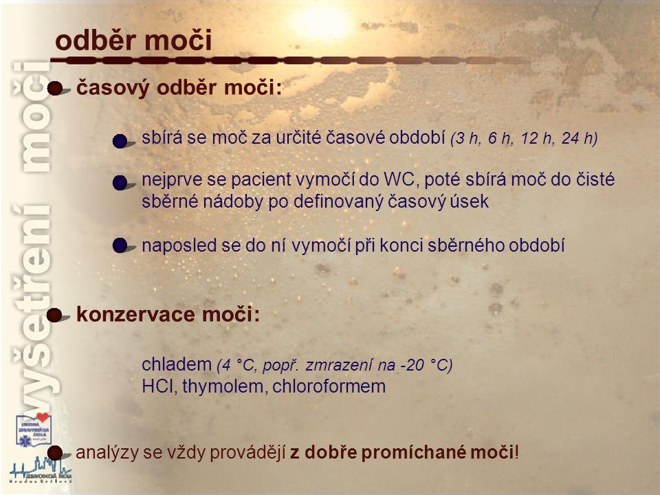 válce granulované buněčné hyalinní voskové převzato z : http://www.mnof.cz/sediment/ vyšetření močového sedimentu