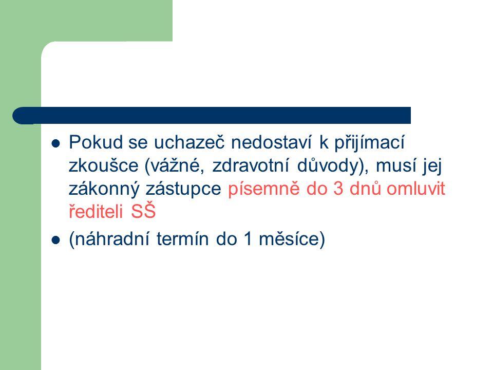 Výsledky přijímacích zkoušek  U maturitních oborů (SCIO) 24.4.