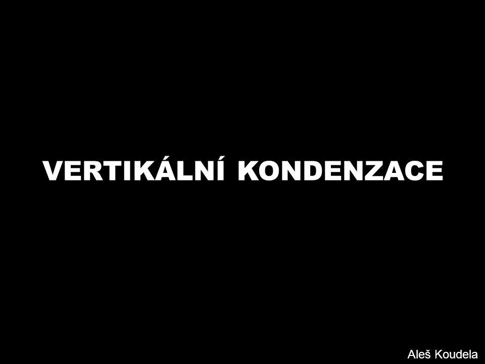 VERTIKÁLNÍ KONDENZACE Aleš Koudela