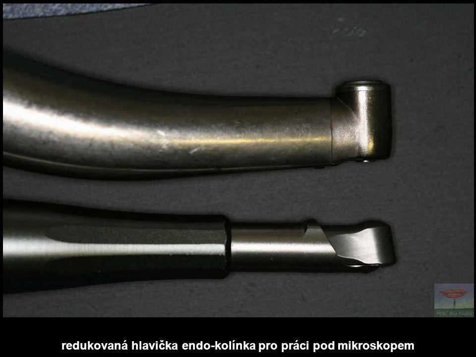 redukovaná hlavička endo-kolínka pro práci pod mikroskopem