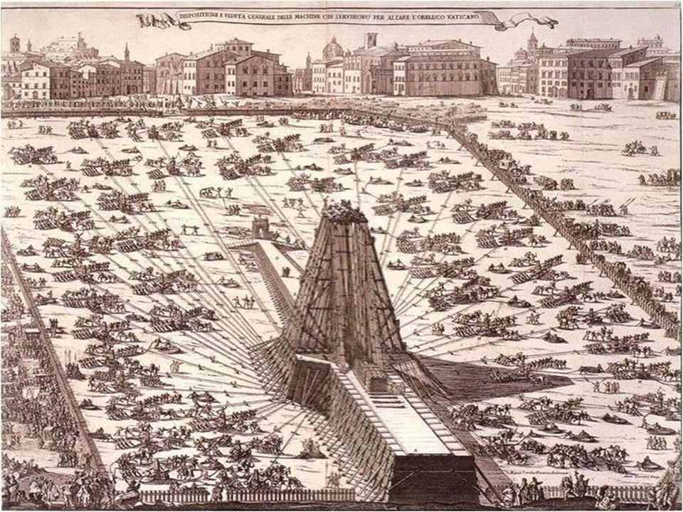 Celá realizace trvala rok a je věrně popsána v nádherné knize: Della trasportatione dell obelisco Vaticano et delle fabriche di Nostro Signore Papa Sisto V, un volumen de 1590.