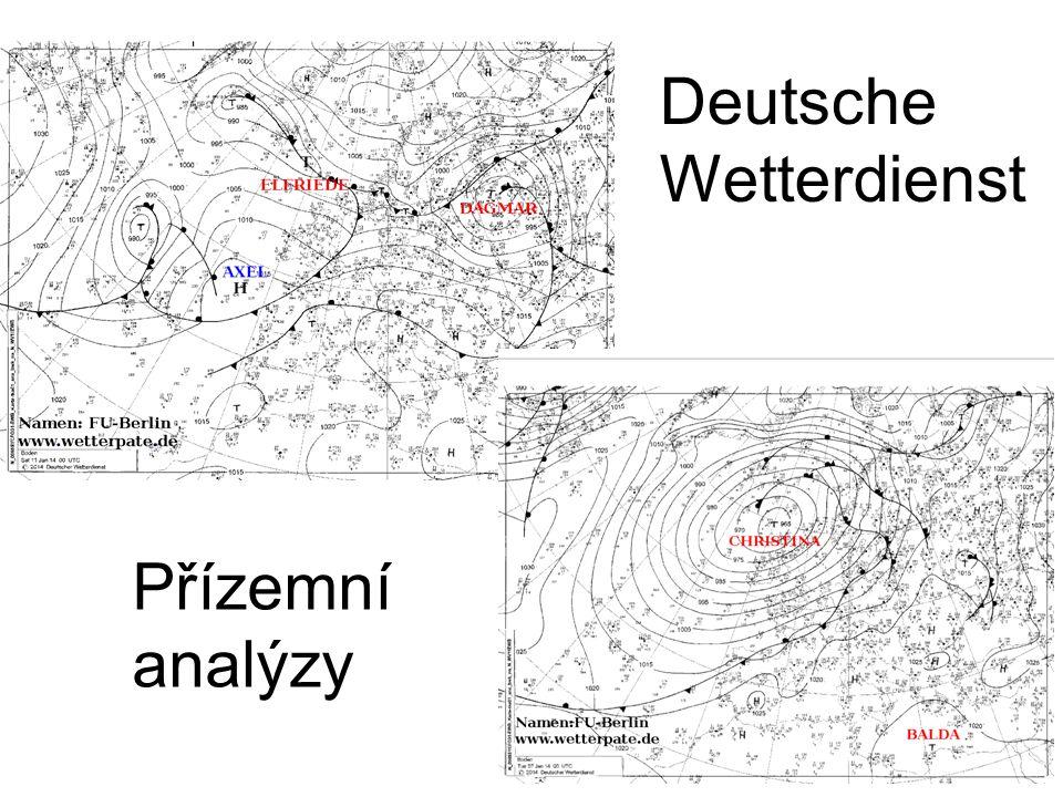 Deutsche Wetterdienst Přízemní analýzy