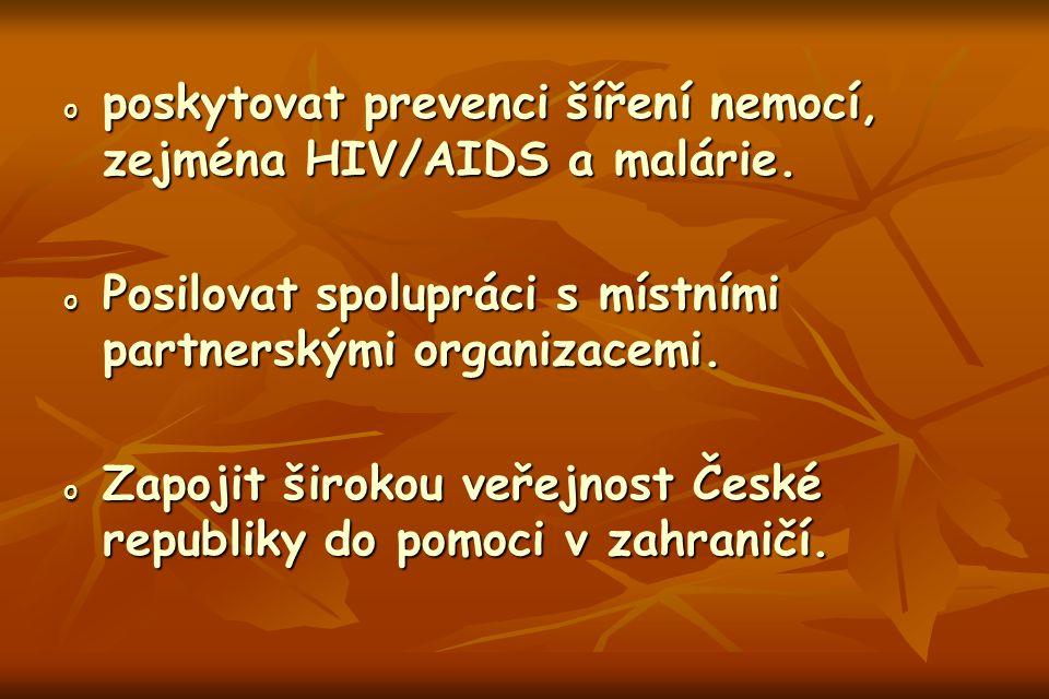 opopopoposkytovat prevenci šíření nemocí, zejména HIV/AIDS a malárie.