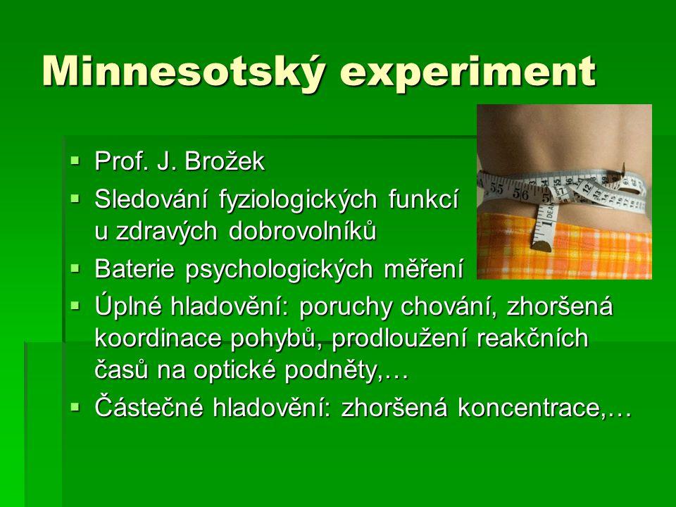 Minnesotský experiment  Prof.J.