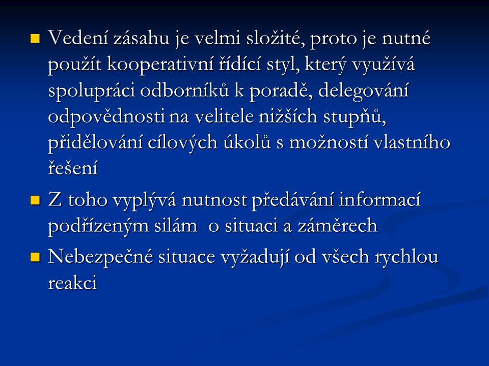 Velitel zásahu vyhl.č.247/2001 Sb.