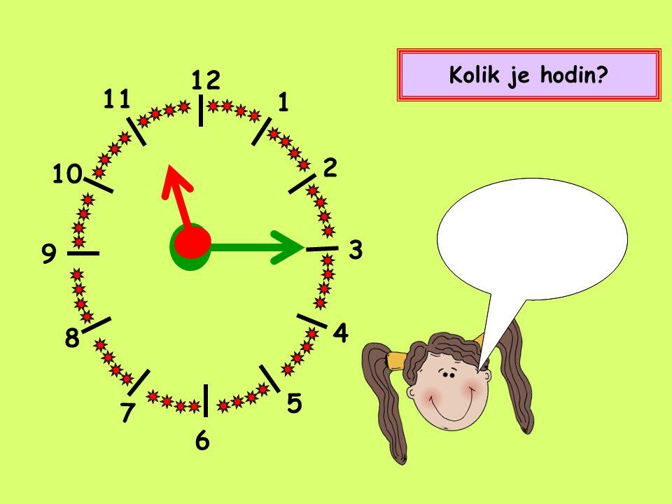 12 1 2 4 5 8 9 10 11 7 Kolik je hodin? Půl osmé. Nebo také sedm hodin a třicet minut. 3 6
