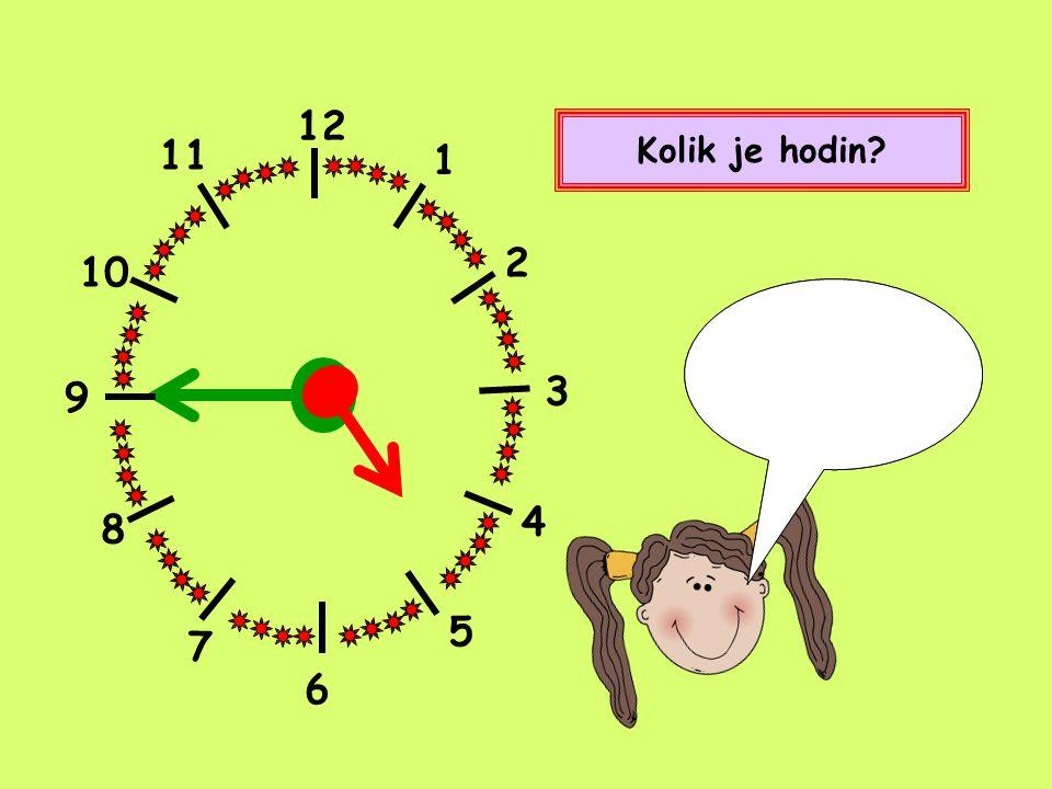 12 1 2 4 5 8 9 10 11 7 Kolik je hodin? Čtvrt na deset. Nebo také devět hodin a patnáct minut. 3 6
