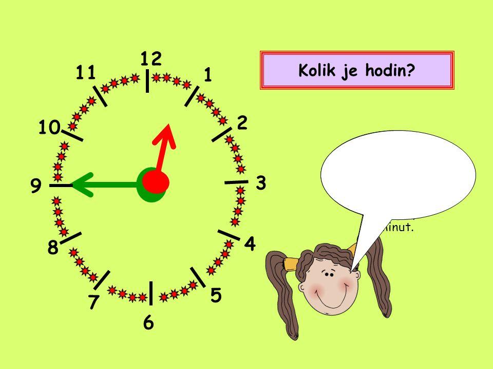 12 1 2 4 5 8 9 10 11 7 Kolik je hodin? Čtvrt na osm. Nebo také sedm hodin a patnáct minut. 3 6