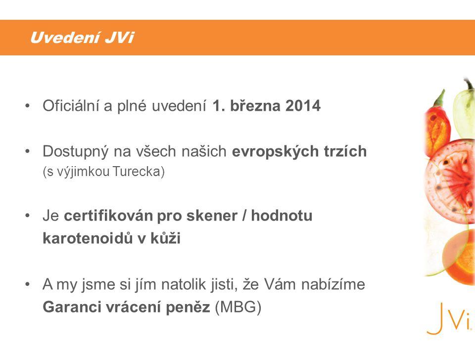 Uvedení JVi •Oficiální a plné uvedení 1. března 2014 •Dostupný na všech našich evropských trzích (s výjimkou Turecka) •Je certifikován pro skener / ho