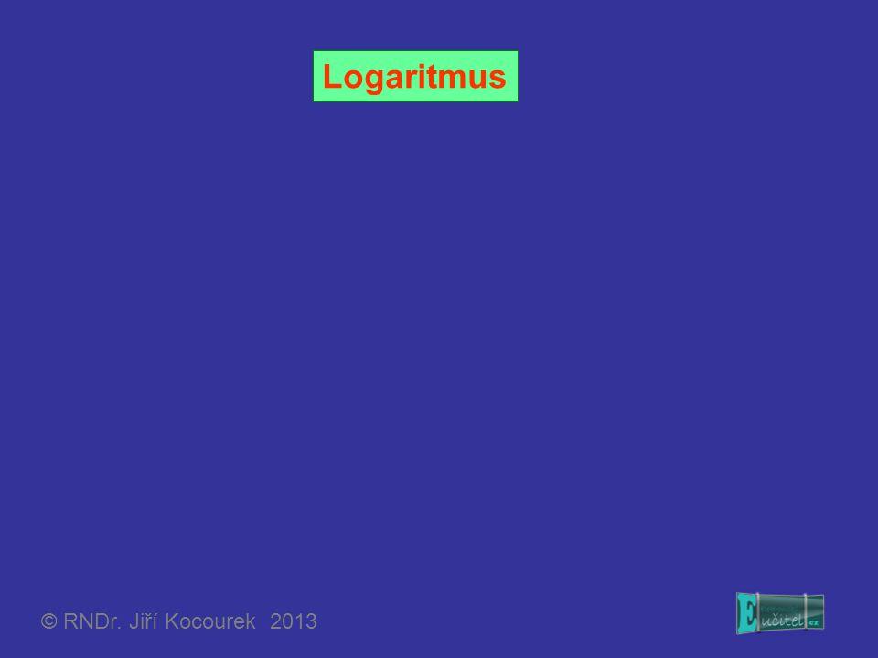 Pravidla pro počítání s logaritmy Pro libovolná kladná reálná čísla a, b různá od jedné a pro libovolná kladná reálná čísla r, s platí: Poznámka: Jelikož logaritmická a exponenciální funkce jsou navzájem inverzní, platí vždy: