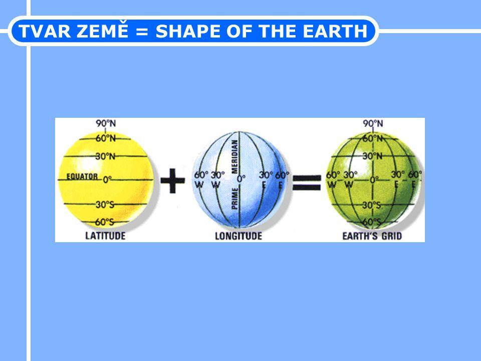 TVAR ZEMĚ = SHAPE OF THE EARTH
