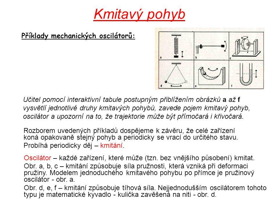 Rozborem uvedených příkladů dospějeme k závěru, že celé zařízení koná opakovaně stejný pohyb a periodicky se vrací do určitého stavu. Probíhá periodic