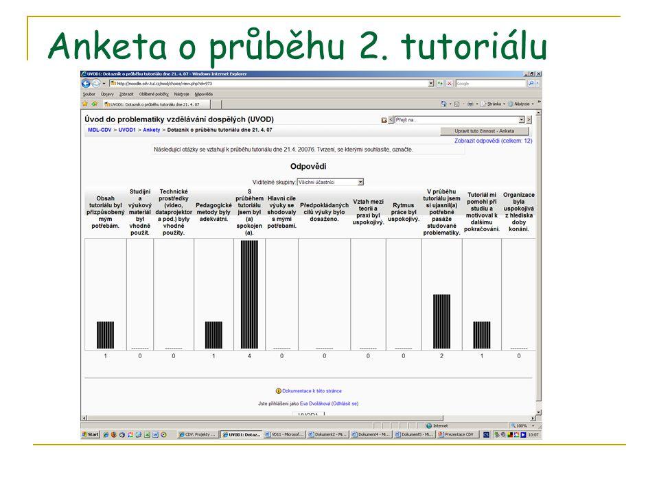 Anketa o průběhu 2. tutoriálu