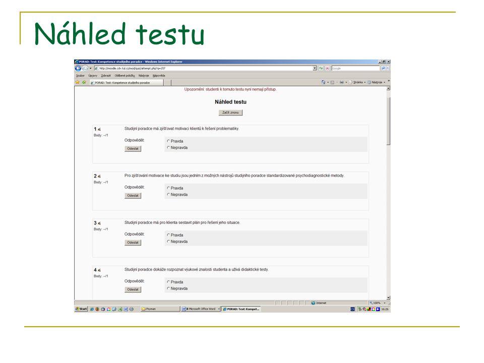 Náhled testu