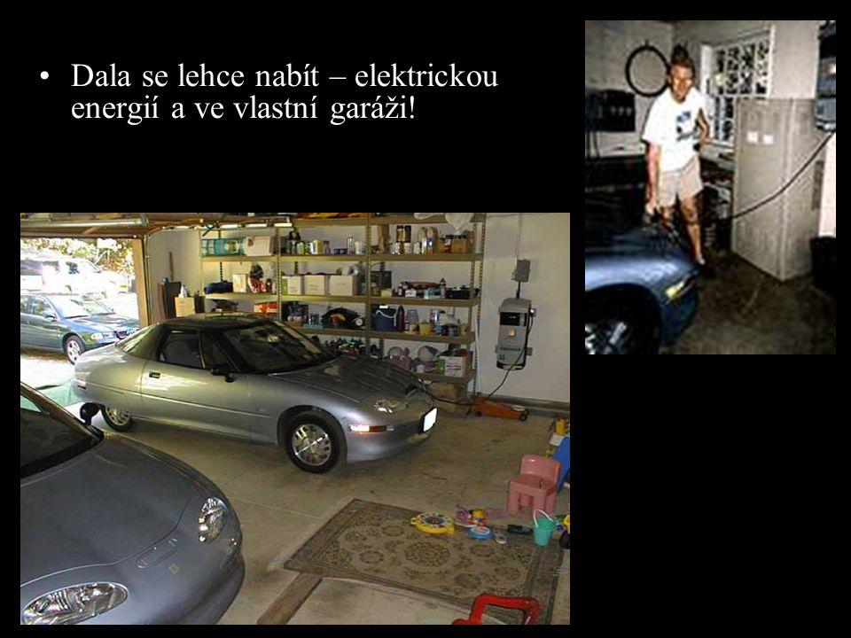 •Dala se lehce nabít – elektrickou energií a ve vlastní garáži!