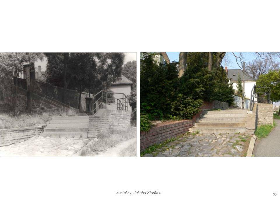 pohled z Kovářovy ulice, vpravo kostel sv. Jakuba Staršího 29