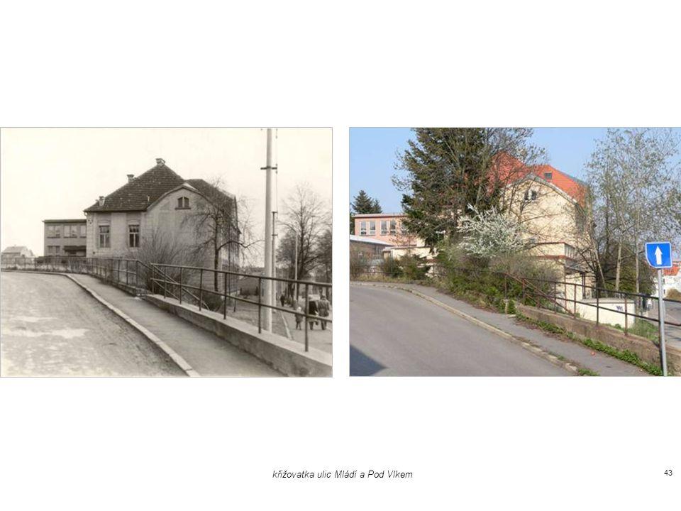 křižovatka ulic Kovářova a Mládí 42