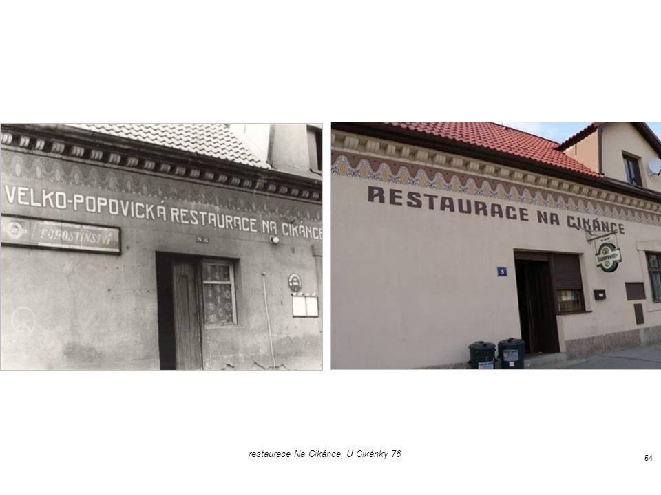 restaurace Na Cikánce, U Cikánky 76 53